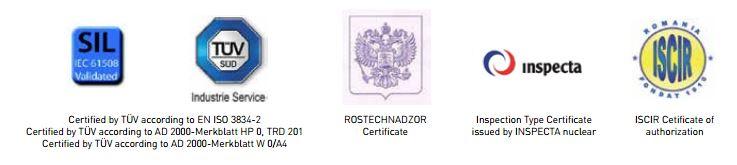 certificados ringo valvulas